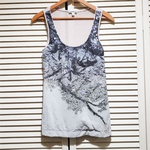 Express Sequin Front Tank Top